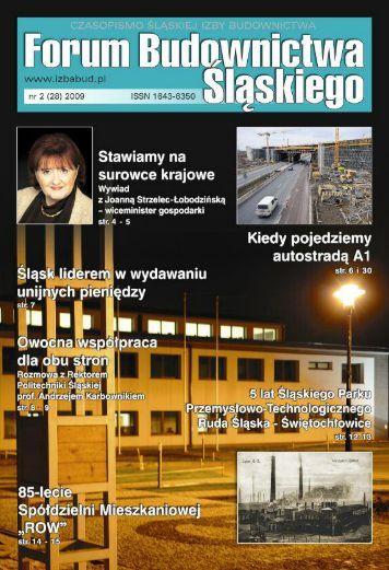 FORUM BUDOWNICTWA ŚLĄSKIEGO nr 2 (28) 2009 - Śląska Izba Budownictwa