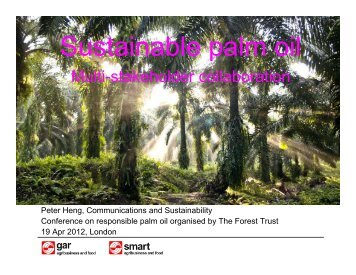 Sustainable palm oil - PT SMART Tbk