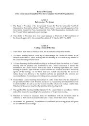 1/4 Rules of Procedure of the Government Council for Non ...