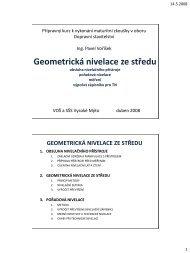 Geometrická nivelace ze středu – 2 (obsluha přístroje, měření ...