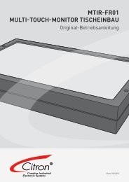 MTIR-FR01 Multi-Touch-Monitor Tischeinbau - Citron Gmbh