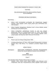PP No 9 Tahun 1995 Tentang Pelaksanaan Kegiatan ... - Smart Bisnis