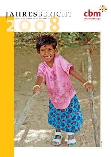 Jahresbericht 2008 - Christoffel-Blindenmission