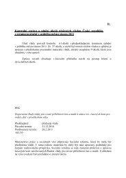 II. Kontrolní zpráva o plnění úkolů uložených vládou České republiky ...