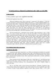 Výroèní zpráva o èinnosti Legislativní rady vlády za rok 2– - Vláda ČR