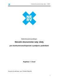 Národní ekonomické rady vlády pro ... - Vláda ČR