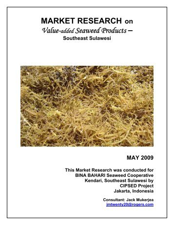 marketing analysis about seaweed 32 production 33 prices 34 marketing 35 export shipping 35 future plans 36 attachment 1 – seaweed cultivation methods 38 3 kiribati – country report 40 summary 40 past experience redevelopment of the industry and has a plan to restore production to more than 1000 tonnes in the next 2–3 years details of.