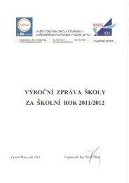 Výroční zpráva školy za školní rok 2011/2012 - VOŠ a SŠ stavební ...