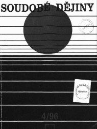 Soudobé dějiny č. 4/1996 - Ústav pro soudobé dějiny AV