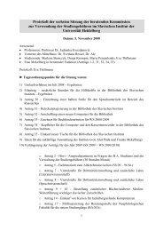 Protokoll der Sitzung vom 05.11.2008 - Slavisches Institut