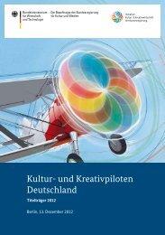 Kultur- und Kreativpiloten Deutschland (2012) - Initiative Kultur- und ...