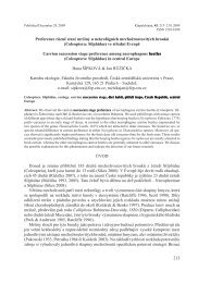 (Coleoptera: Silphidae) ve střední Evropě - Česká zemědělská ...