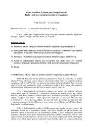 Zápis ze schůze Výboru pro Evropskou unii - Vláda ČR