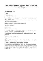 Zápis ze zasedání rady dne 9. dubna 1999 - Vláda ČR