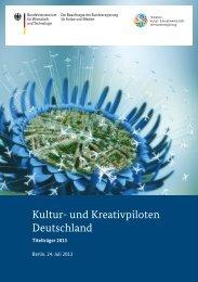 Kultur- und Kreativpiloten Deutschland – Titelträger 2013 - BMWi