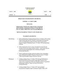 Perda Kota Bandung No.12 Tahun 2000 - Pemerintah Kota Bandung