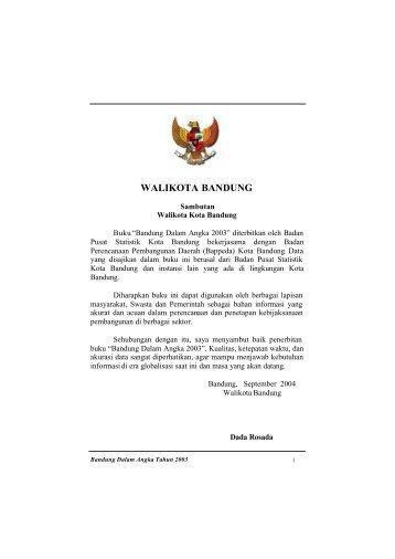 WALIKOTA BANDUNG - Pemerintah Kota Bandung