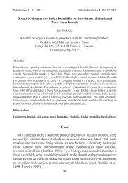 83 Brouci (Coleoptera) v sutích Komářího vrchu v katastrálním území ...