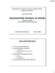 Geometrická nivelace ze středu (přístroje a pomůcky)