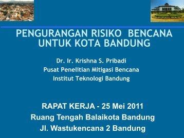 Pengurangan Resiko Bencana - Pemerintah Kota Bandung