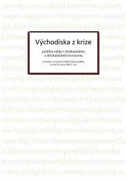 Východiska z krize (Exit strategy) - Vláda ČR
