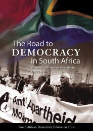 The Road To Democracy In South Africa, Volume 3 ... - SADOCC