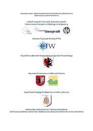 program konferencji - Rewitalizacja Dróg Wodnych - Uniwersytet ...