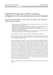 Vegetation changes after cessation of grazing management in the ...