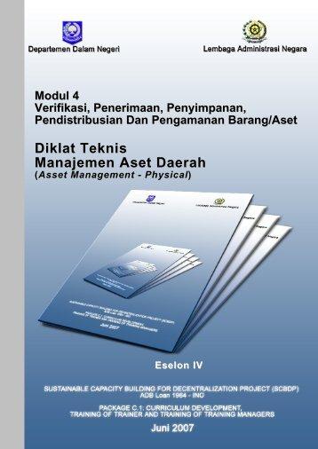 Diklat Teknis Manajemen Aset Daerah
