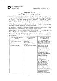 Protokół nr 1/2013 z przebiegu przeprowadzonego przetargu