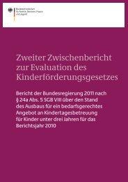 Zweite Zwischenbericht zur Evaluation des Kinderförderungsgesetzes