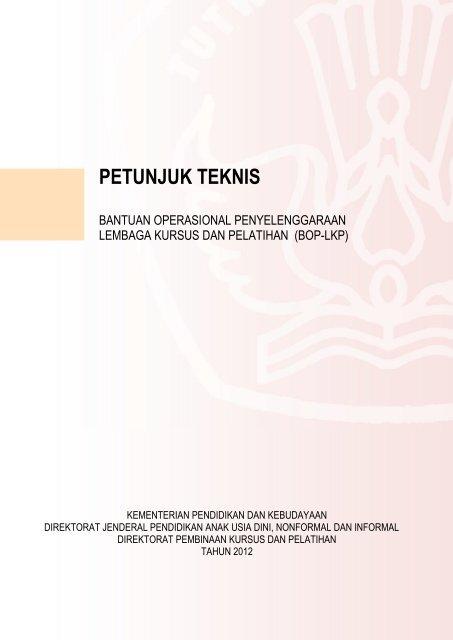 Petunjuk Teknis BOP LKP Tahun 2012