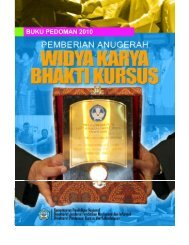 Pedoman Widya Karya Bhakti Kursus Tahun 2010