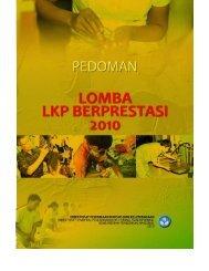 Pedoman Lomba Lembaga Kursus dan Pelatihan 2010 | i