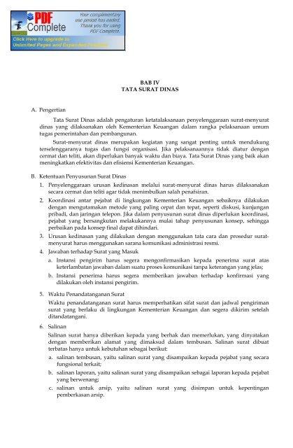 Bab Iv Tata Surat Dinas Jdi Hukum