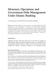 Monetary Operations and Government Debt Management Under