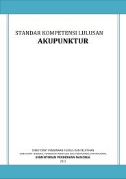 Standar Kompetensi Lulusan Akupunktur