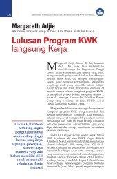 Lulusan Program KWK langsung Kerja - Ditjen PAUDNI