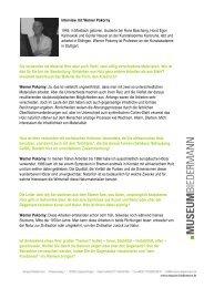 Interview mit dem Künstler Werner Pokorny - Museum Biedermann