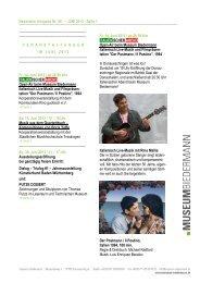 Newsletter Ausgabe Nr. 08 – JUNI 2013 : Seite 1 - Museum ...