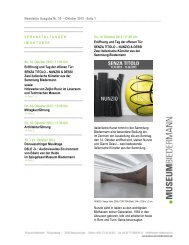 Newsletter Ausgabe Nr. 10 – Oktober 2012 : Seite 1 - Museum ...