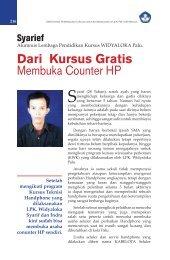 Dari Kursus Gratis Membuka Counter HP - Ditjen PAUDNI