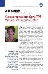 Kursus mengubah Guru TPA Menjadi Wirausaha ... - Ditjen PAUDNI