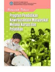 Petunjuk Teknis Program Kewirausahaan Masyarakat (PKM)