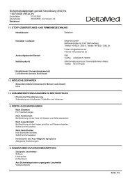 Sicherheitsdatenblatt gemäß Verordnung (EG) Nr ... - DeltaMed GmbH