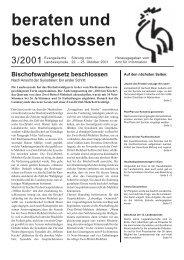 beraten und beschlossen 3/2001 - Evangelische Landeskirche in ...