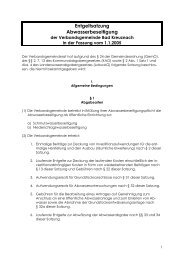 Entgeltsatzung Abwasserbeseitigung - Verbandsgemeinde Bad ...
