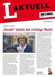 L-Aktuell 04 / 2013 - Die Linke. - Brandenburg.de