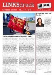 Linksdruck Landtag Aktuell 12 / 2009 - PDF 266 K - Die Linke.