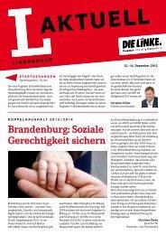 L-Aktuell 12 / 2012 - Die Linke. - Land Brandenburg